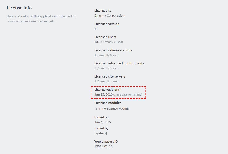 PaperCut MF License Info