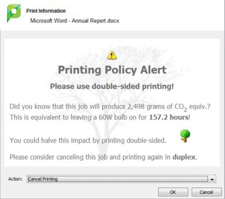 PaperCut's Advanced Client billing options