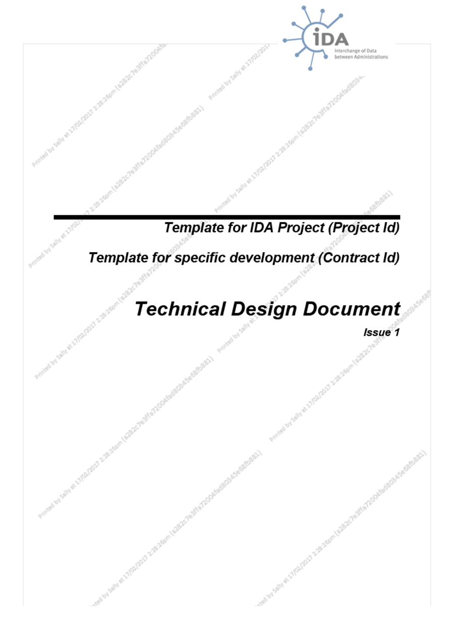 PaperCut document watermark example